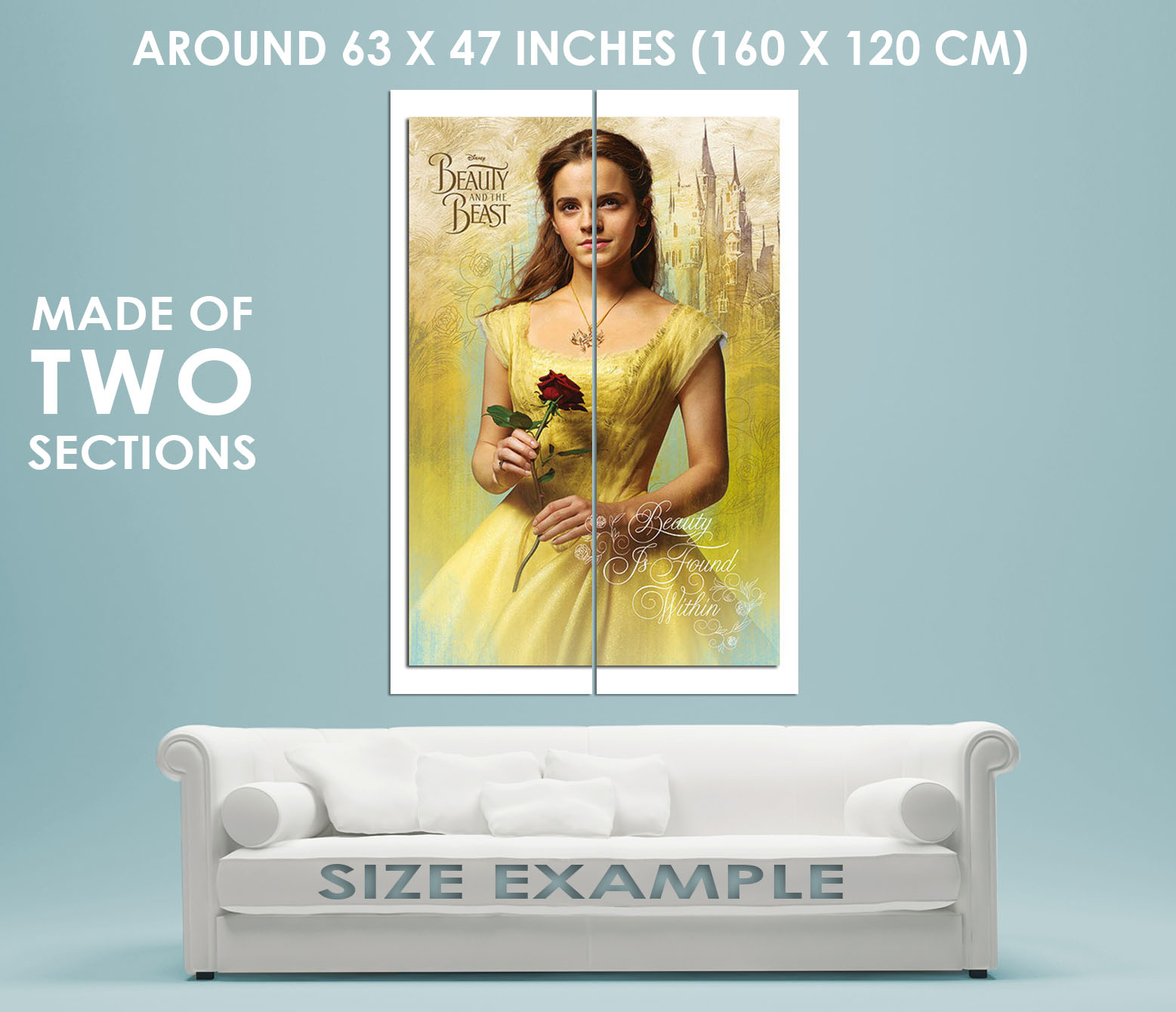 88820 Beauty And The Beast Belle Decor WALL PRINT POSTER UK | eBay