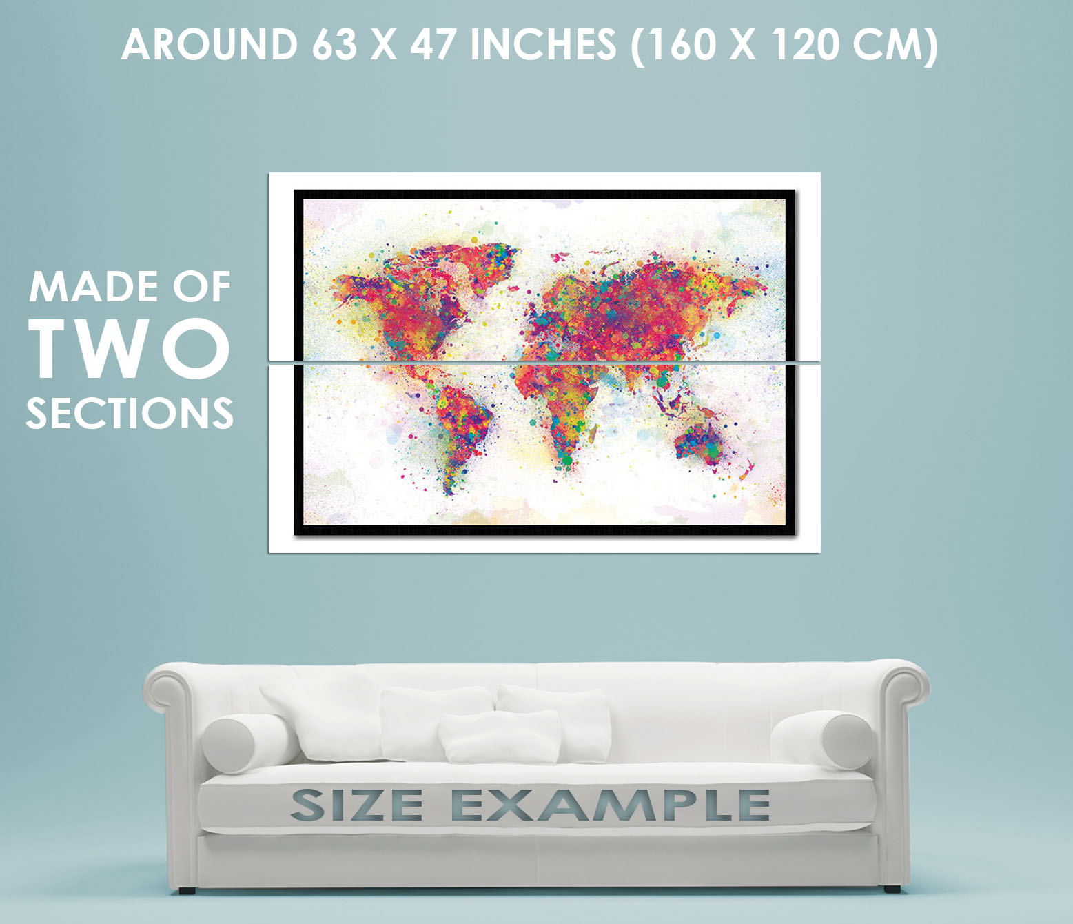 89684 world map colour splash cork pin with pins decor wall print 89684 world map colour splash cork pin with gumiabroncs Choice Image