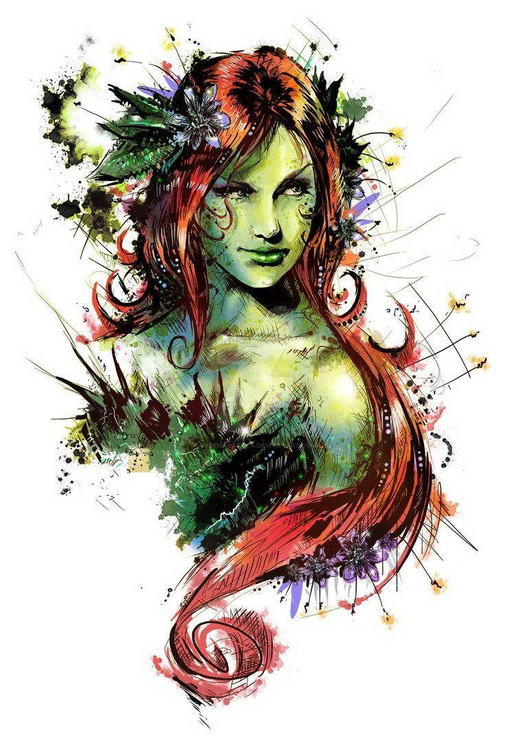 POISON IVY SUICIDE SQUAD ART IMAGE Poster Gloss Print Laminated