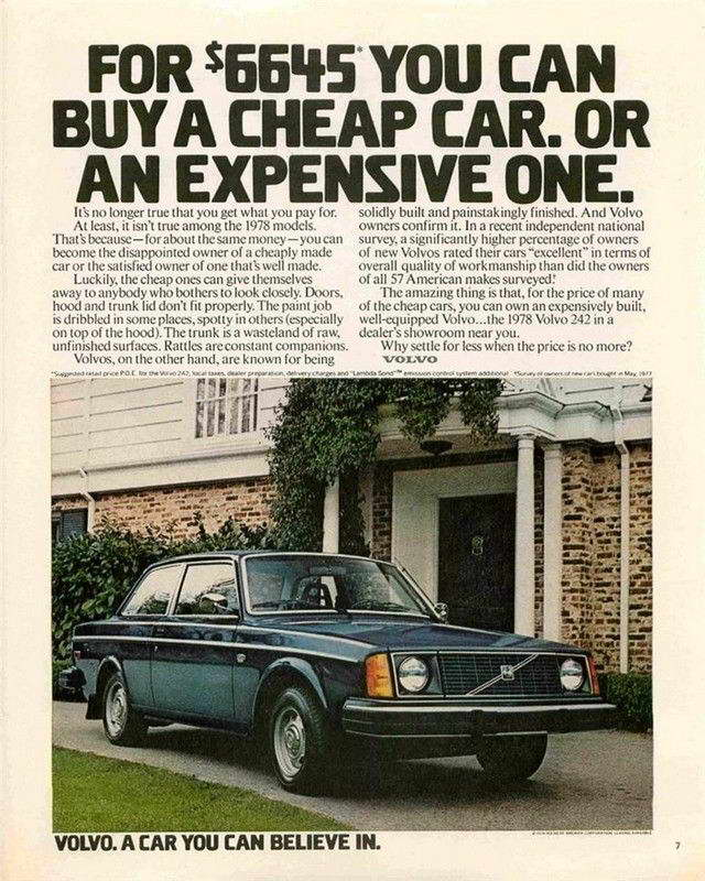 VINTAGE VOLVO CAR AD ART PRINT | eBay
