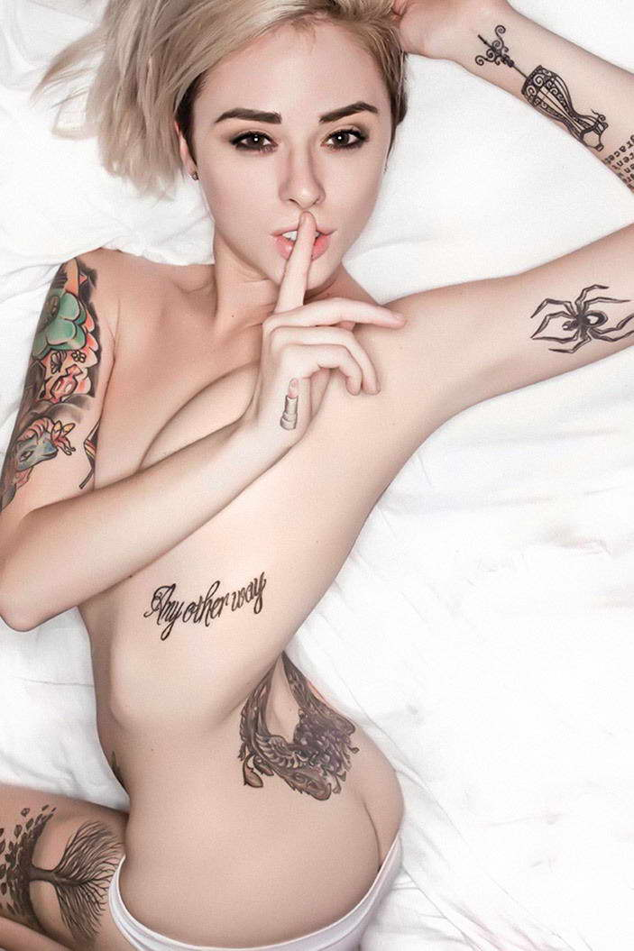 Sexy girl with tattoos