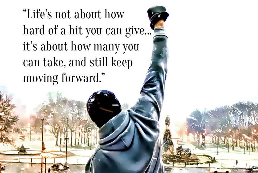 10182 Rocky Balboa Motivational Life Quotes Poster Print