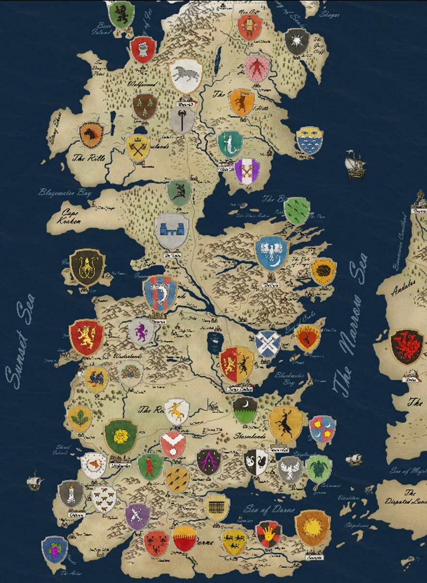 14340 Game Of Thrones Houses Map Westeros TV Show Wall Print POSTER on world map, spooksville map, lord snow, a game of thrones collectible card game, jericho map, game of thrones - season 1, the kingsroad, works based on a song of ice and fire, walking dead map, a game of thrones, clash of kings map, justified map, camelot map, bloodline map, a storm of swords map, valyria map, qarth map, a clash of kings, a storm of swords, game of thrones - season 2, star trek map, fire and blood, winter is coming, sons of anarchy, dallas map, the prince of winterfell, gendry map, tales of dunk and egg, got map, a golden crown, downton abbey map, the pointy end, narnia map, themes in a song of ice and fire, a game of thrones: genesis, guild wars 2 map, jersey shore map, winterfell map,