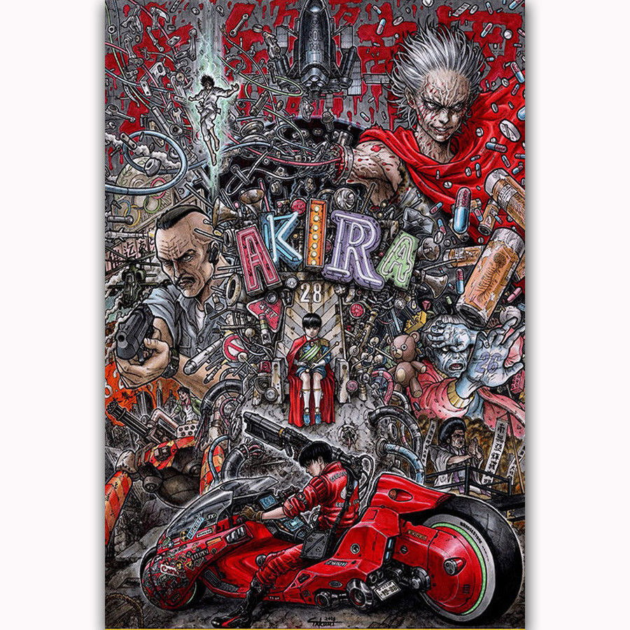 58539 Classic Akira Red Fighting Anime Wall Print Poster CA