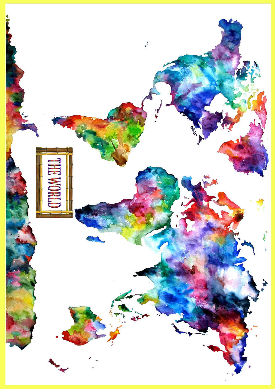 62321 watercolor world map wall print poster au ebay 62321 watercolor world map wall print poster au gumiabroncs Image collections