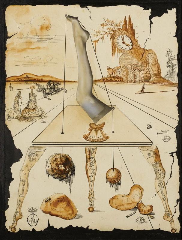 63337 Salvador Dali Composition A La Jambe Giclee Decor Wall Print ...