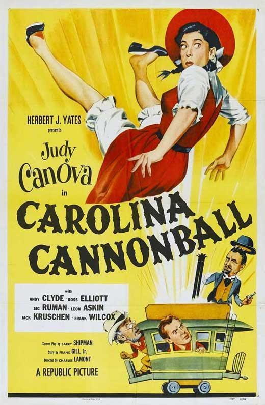 70216-Carolina-Cannonball-Judy-Canova-Andy-Clyde-Wall-Print-Poster-Affiche