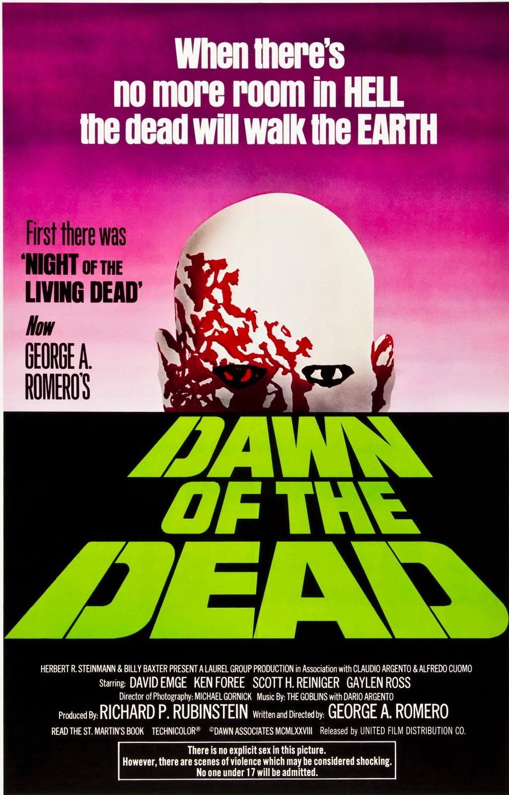 72182 DAWN OF THE DEAD Movie Horror Zombies Wall Print Poster Affiche