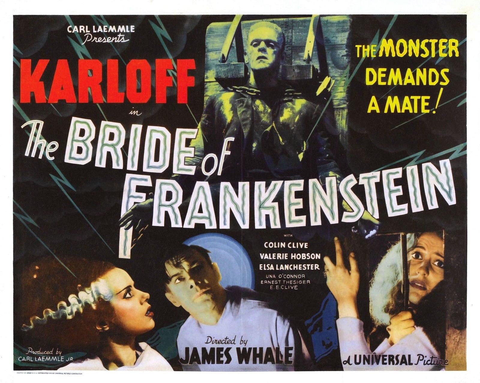 72378-BRIDE-OF-FRANKENSTEIN-Boris-Karloff-Universal-Wall-Print-Poster-Affiche
