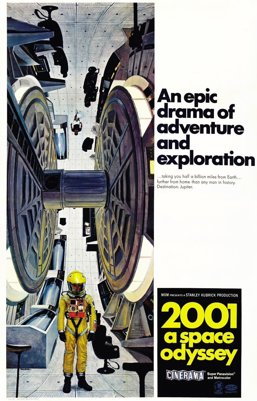 72380 2001 A SPACE ODYSSEY Movie Sci Fi Kubrick  Wall Print Poster Affiche