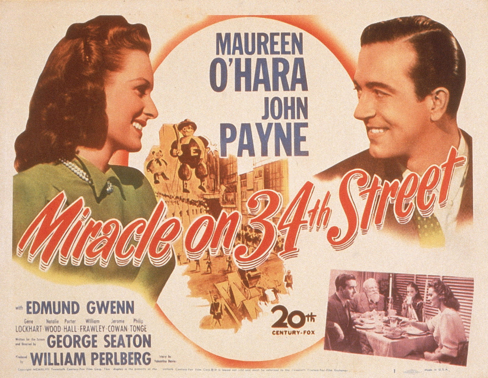 72401-MIRACLE-ON-34th-STREET-Christmas-Holiday-Xmas-Wall-Print-Poster-Affiche