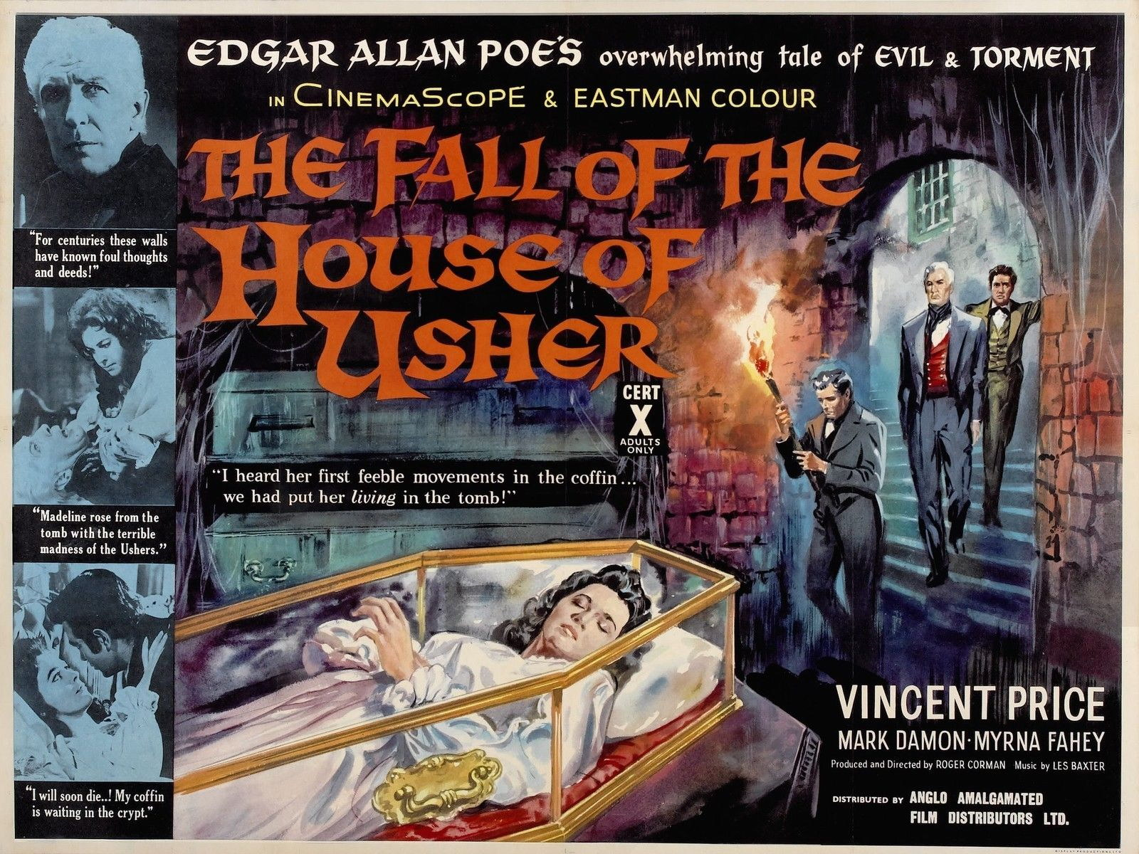 72404 THE FALL OF THE HOUSE OF USHER Vincent Price Wall Print Poster Affiche