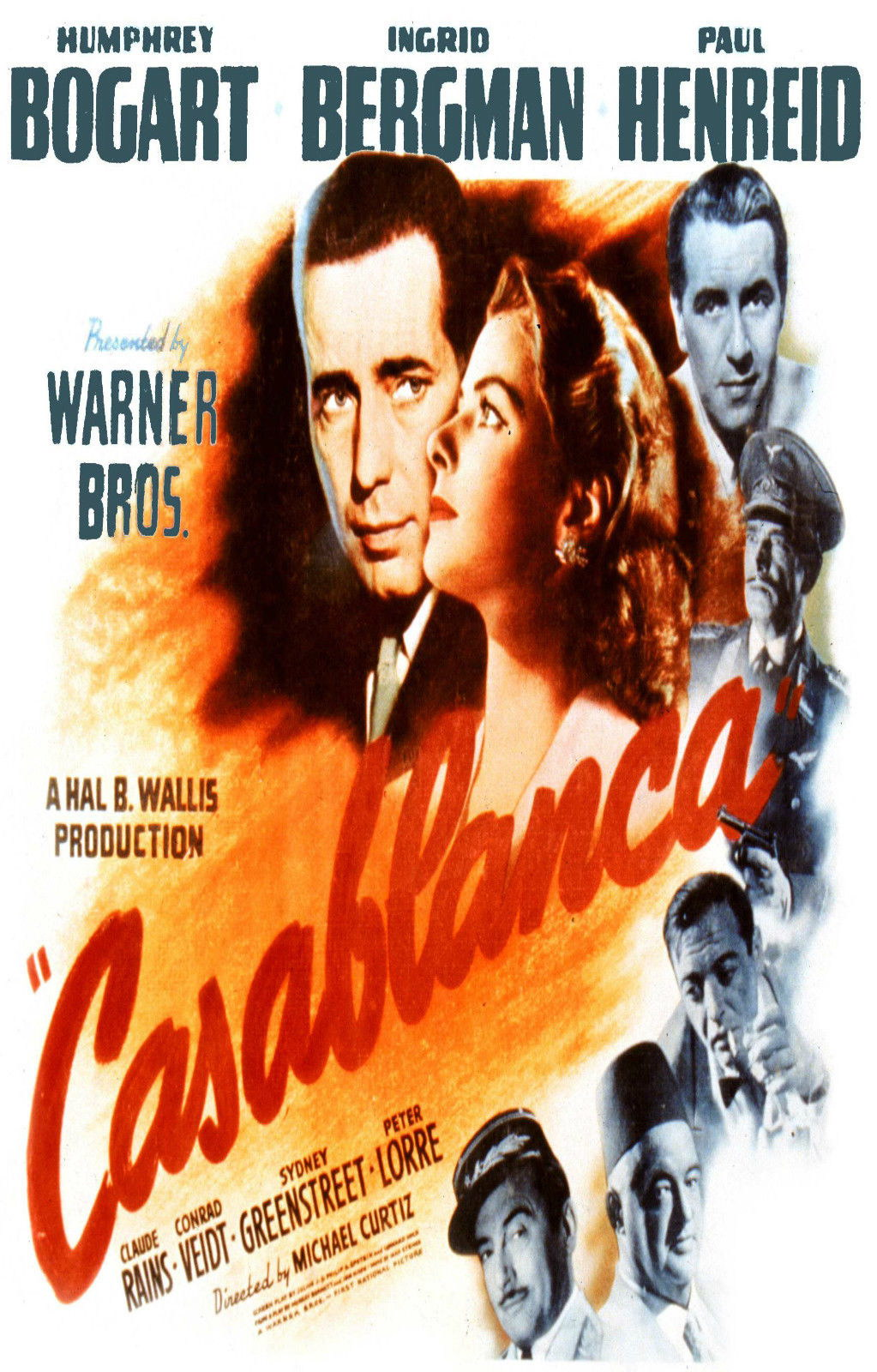 72423-CASABLANCA-Movie-1942-Hollywood-Classic-Wall-Print-Poster-Affiche