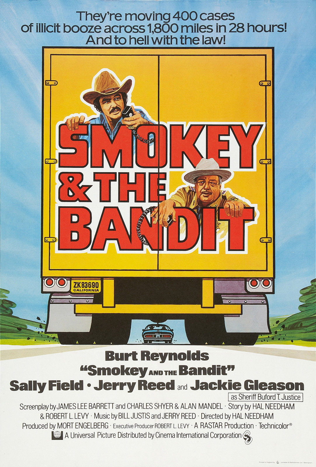 72452 SMOKEY AND THE BANDIT Movie 70's Wall Print Poster Affiche