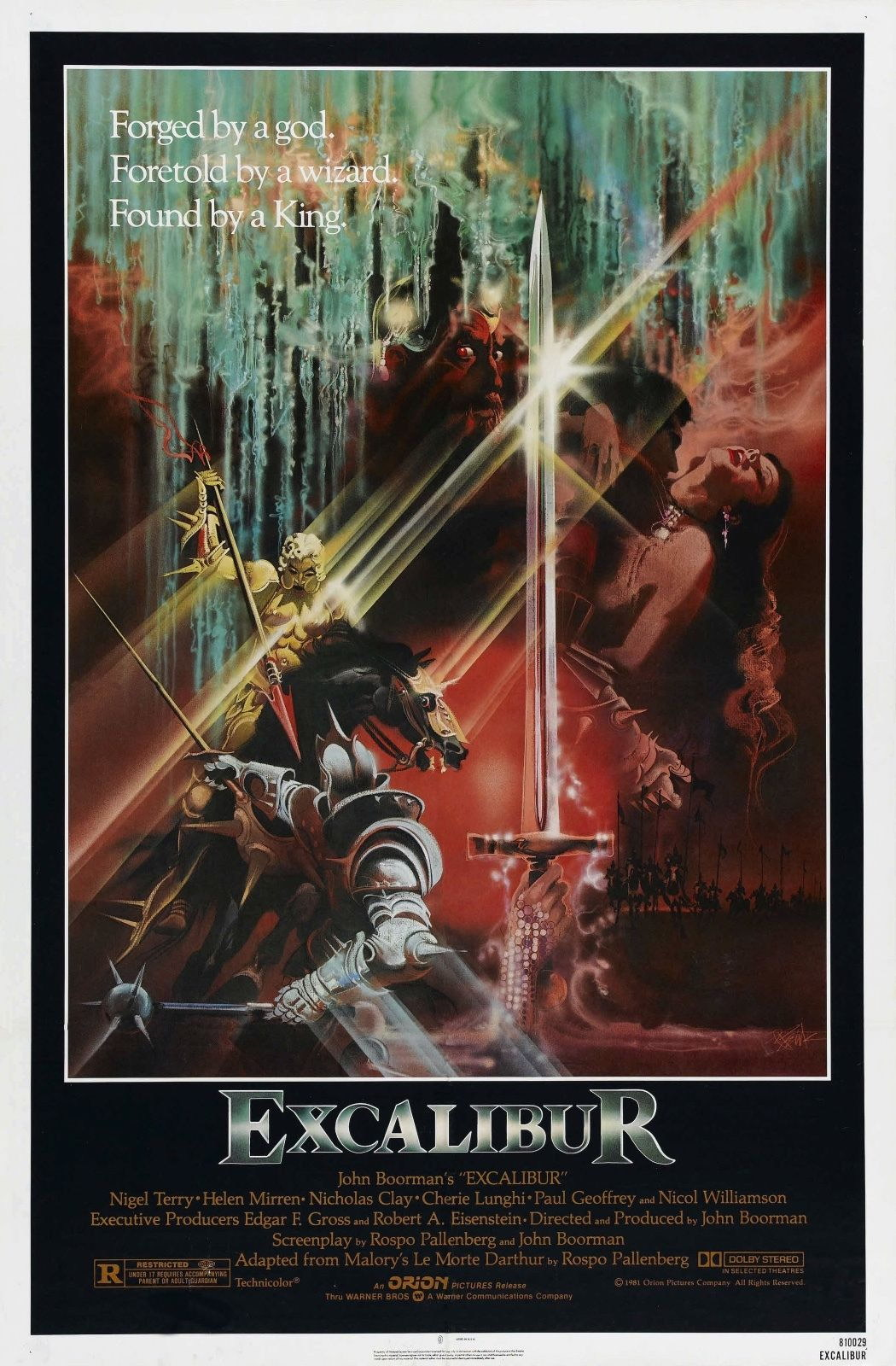 72526 Excalibur 1981 Fantasy Drama Movie Wall Print Poster Affiche