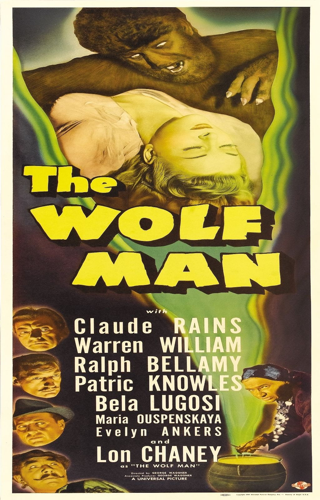 72711 The Wolf Man 1941 Fantasy Drama Classic Movie Wall Print Poster Affiche