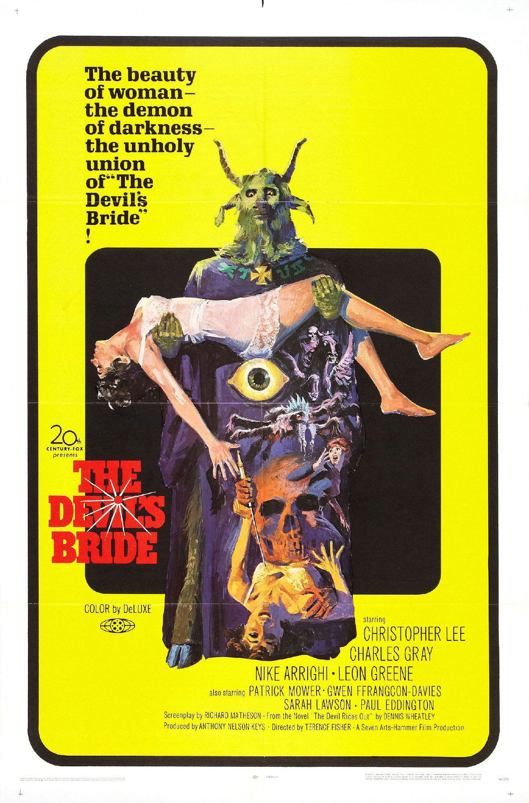 72814-THE-DEVILS-BRIDE-Movie-Hammer-Horror-RARE-Wall-Print-Poster-Affiche
