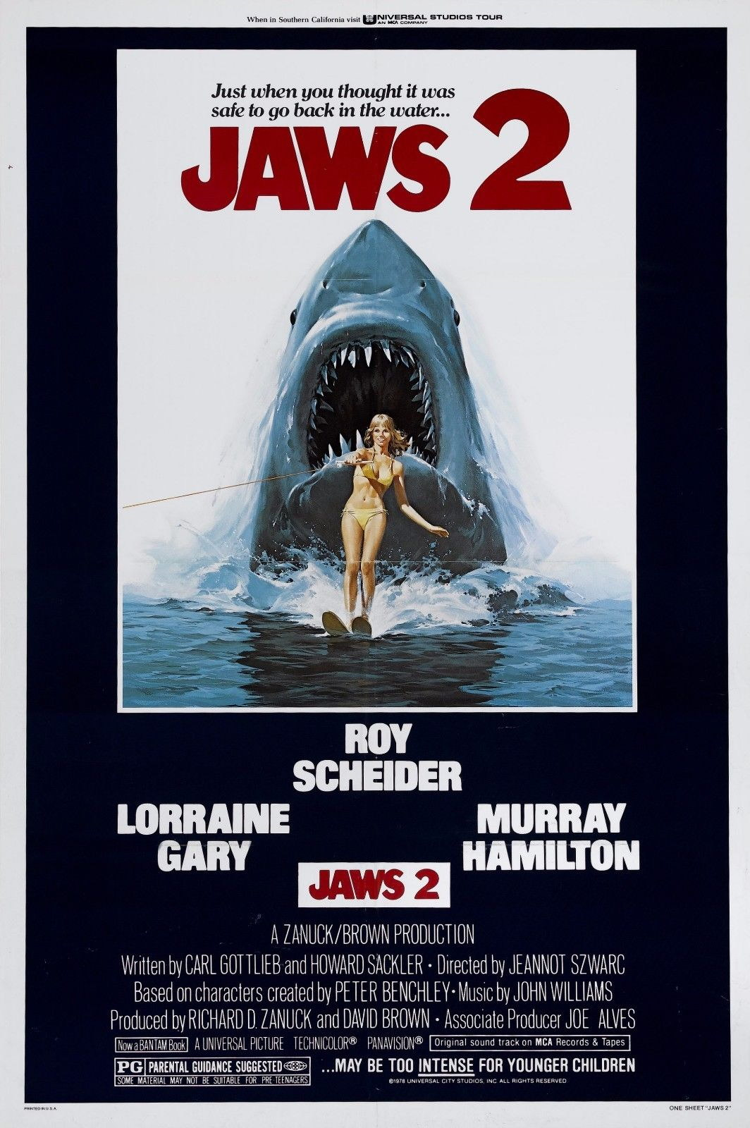 72875 Jaws 2 1978 Thriller Horror Movie Roy Scheider Wall Print Poster Affiche