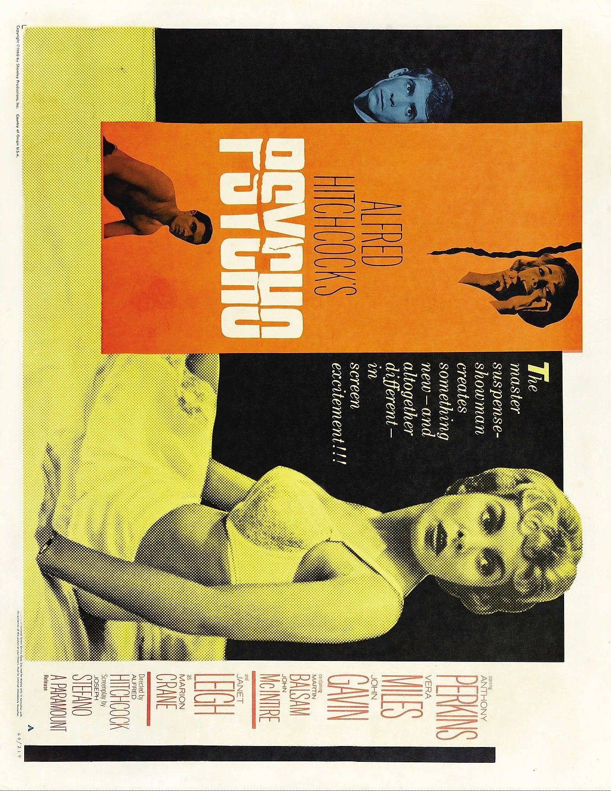 72895 PSYCHO Movie 1960 Wall Print Poster Affiche