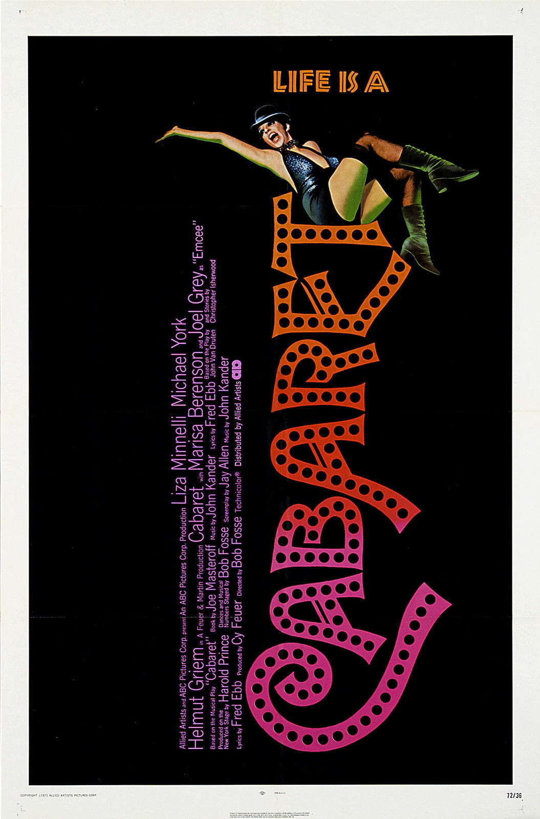 72917-CABARET-Movie-1972-Broadway-Bob-Fosse-RARE-Wall-Print-Poster-Affiche