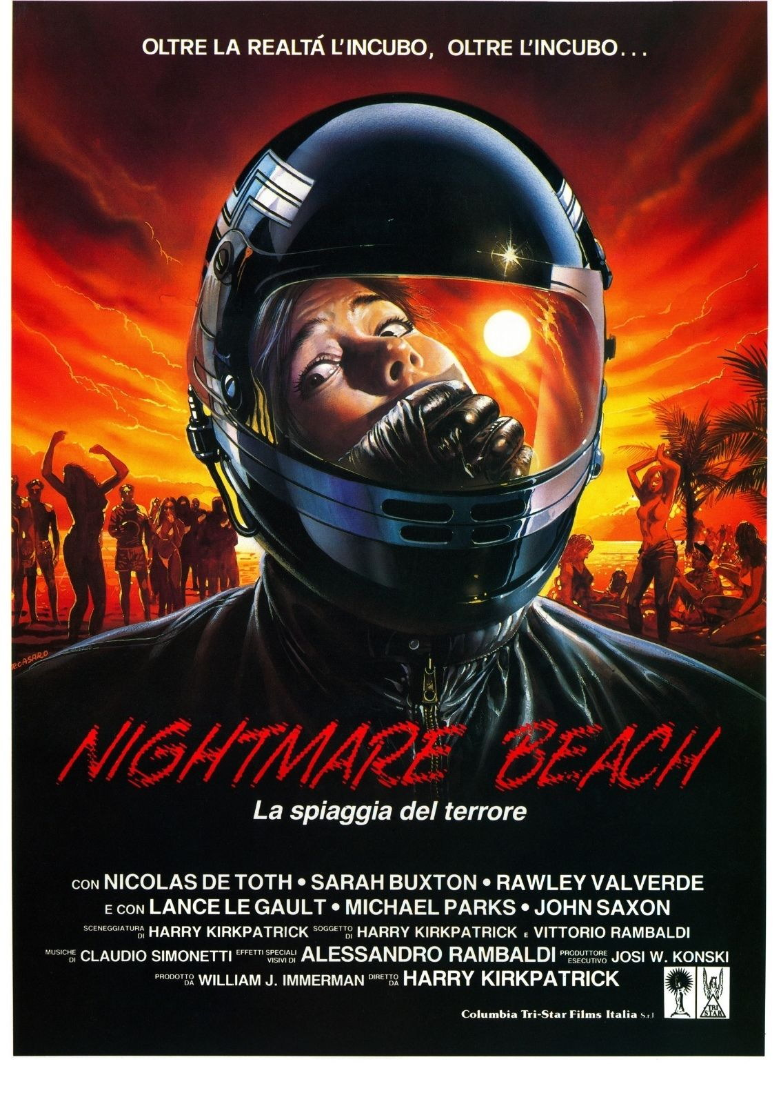 72972-NIGHTMARE-BEACH-Movie-RARE-Horror-John-Saxon-Wall-Print-Poster-Affiche
