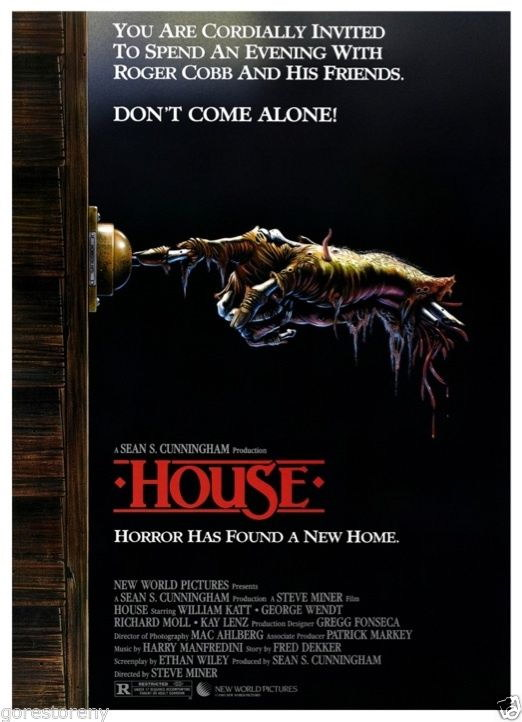 73007-HOUSE-Movie-Horror-Comedy-80-039-s-Sean-Cunningham-Wall-Print-Poster-Affiche