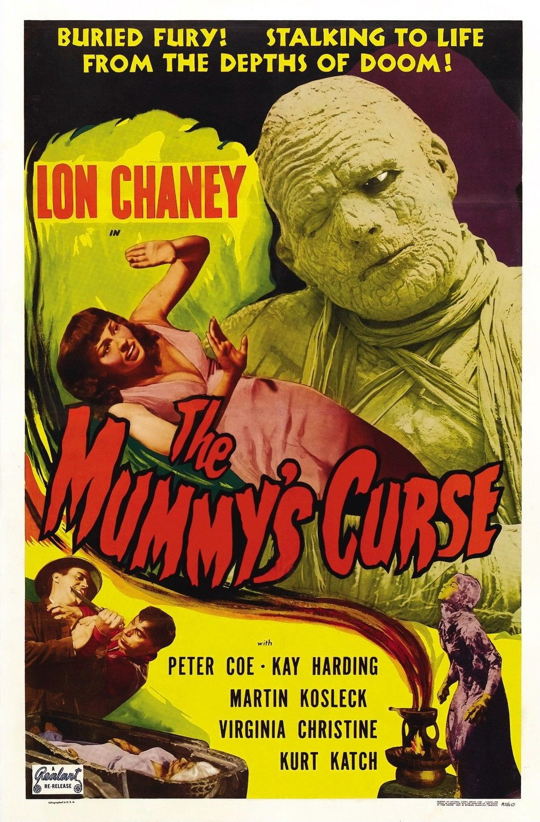 73085-THE-MUMMYS-CURSE-Movie-RARE-Lon-Chaney-Wall-Print-Poster-Affiche