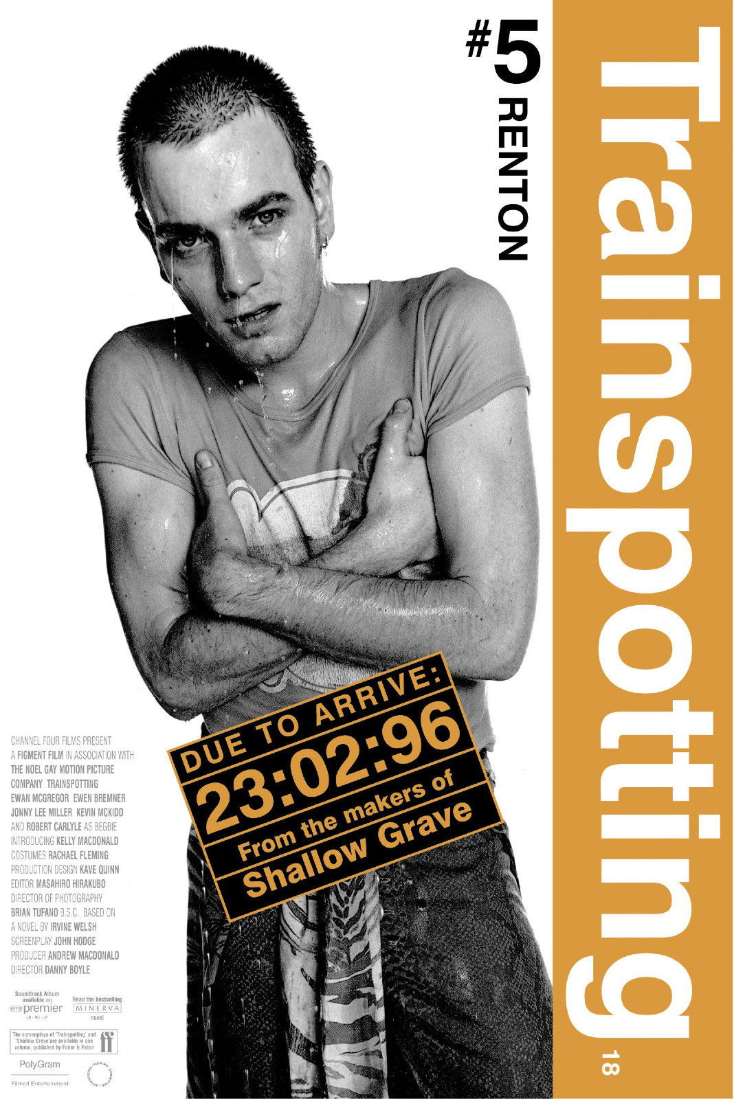 73156 Trainspotting 1996 Movie Renton Wall Print Poster Affiche