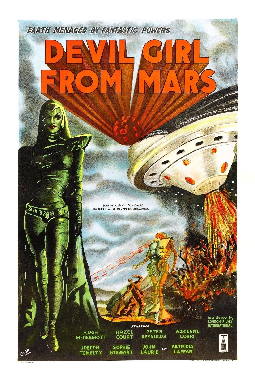 73167 Devil Girl from Mars Movie 1954 Cult Sci-Fi Decor Wall Print Poster