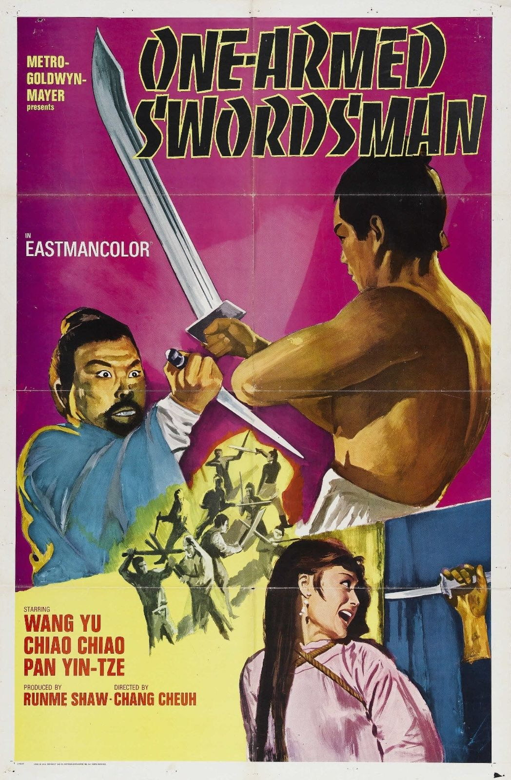 73347 One-Armed Swordsman Drama Action Shaw Brothers Wall Print Poster Affiche