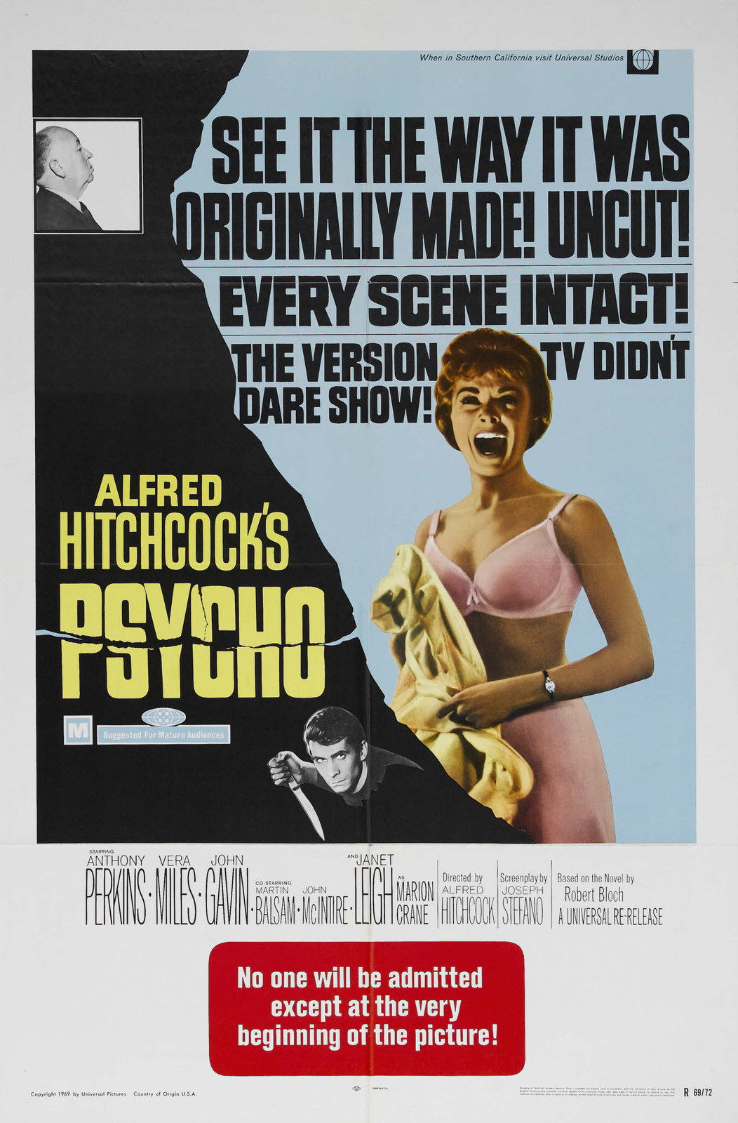 73399-PSYCHO-Movie-1960-Alfred-Hitchcock-Horror-RARE-Wall-Print-Poster-Affiche