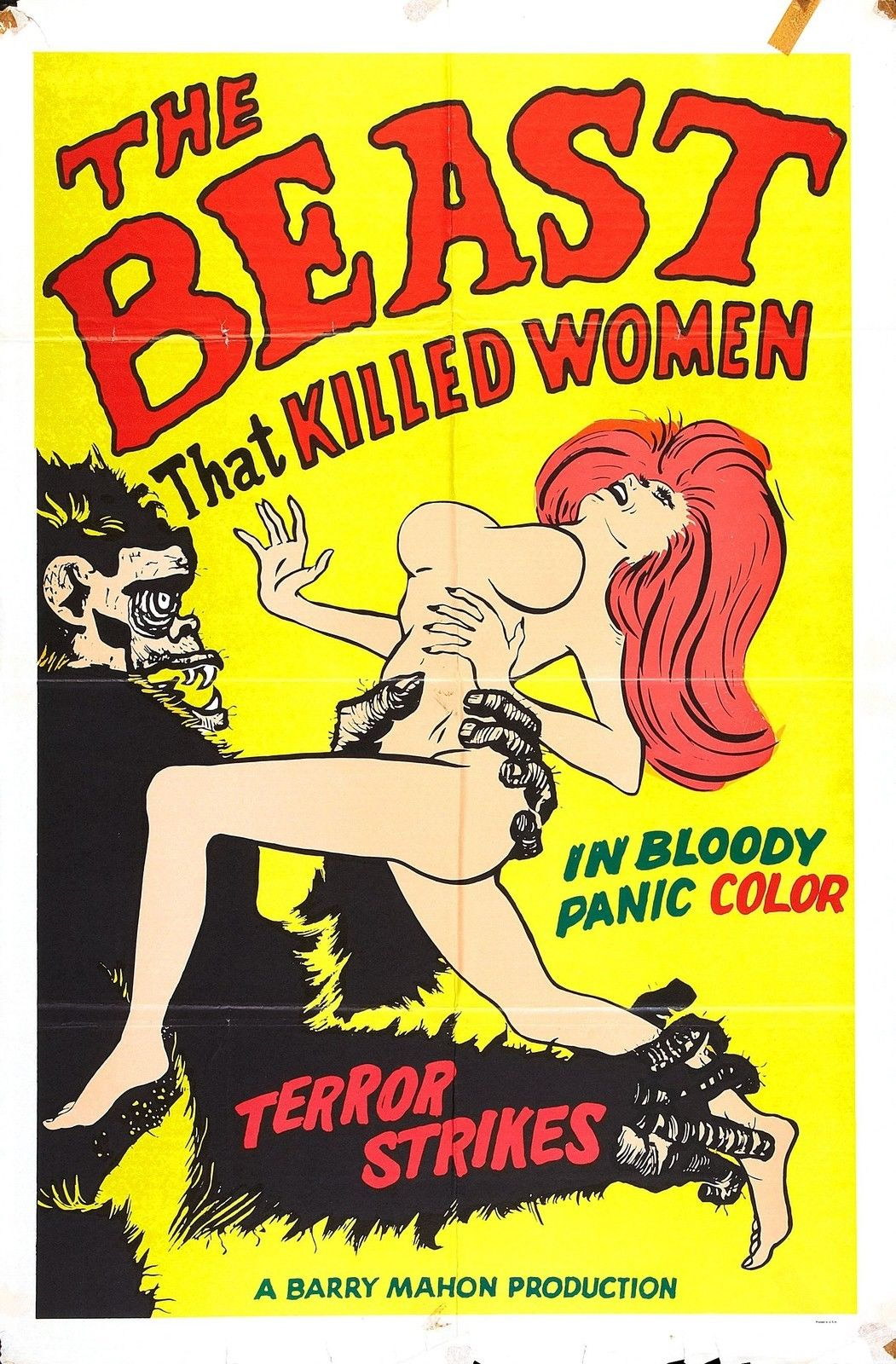 73405-THE-BEAST-THAT-KILLED-WOMEN-1965-Exploitation-Wall-Print-Poster-Affiche