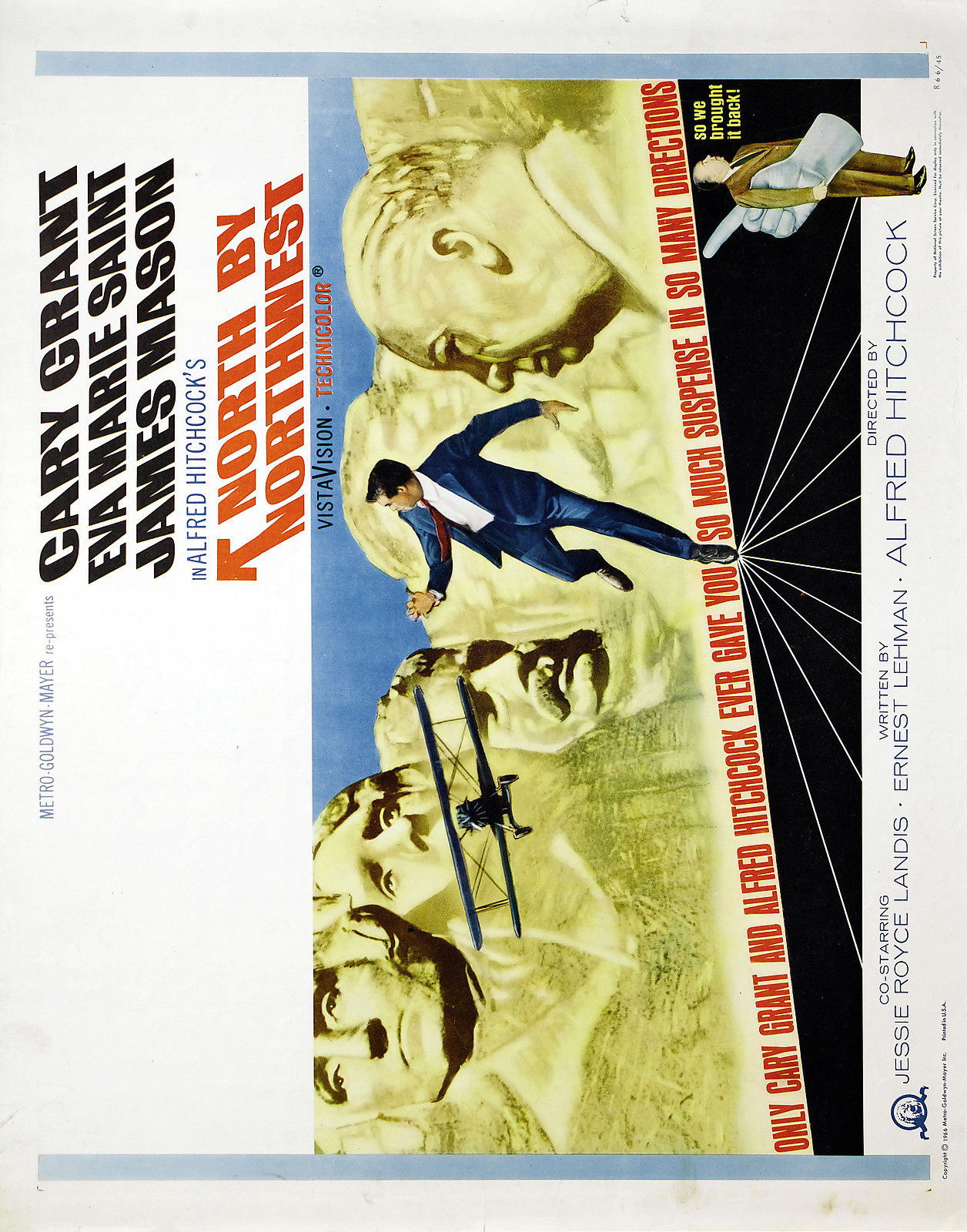 73456-NORTH-BY-NORTHWEST-Alfred-Hitchcock-Cary-Grant-Wall-Print-Poster-Affiche