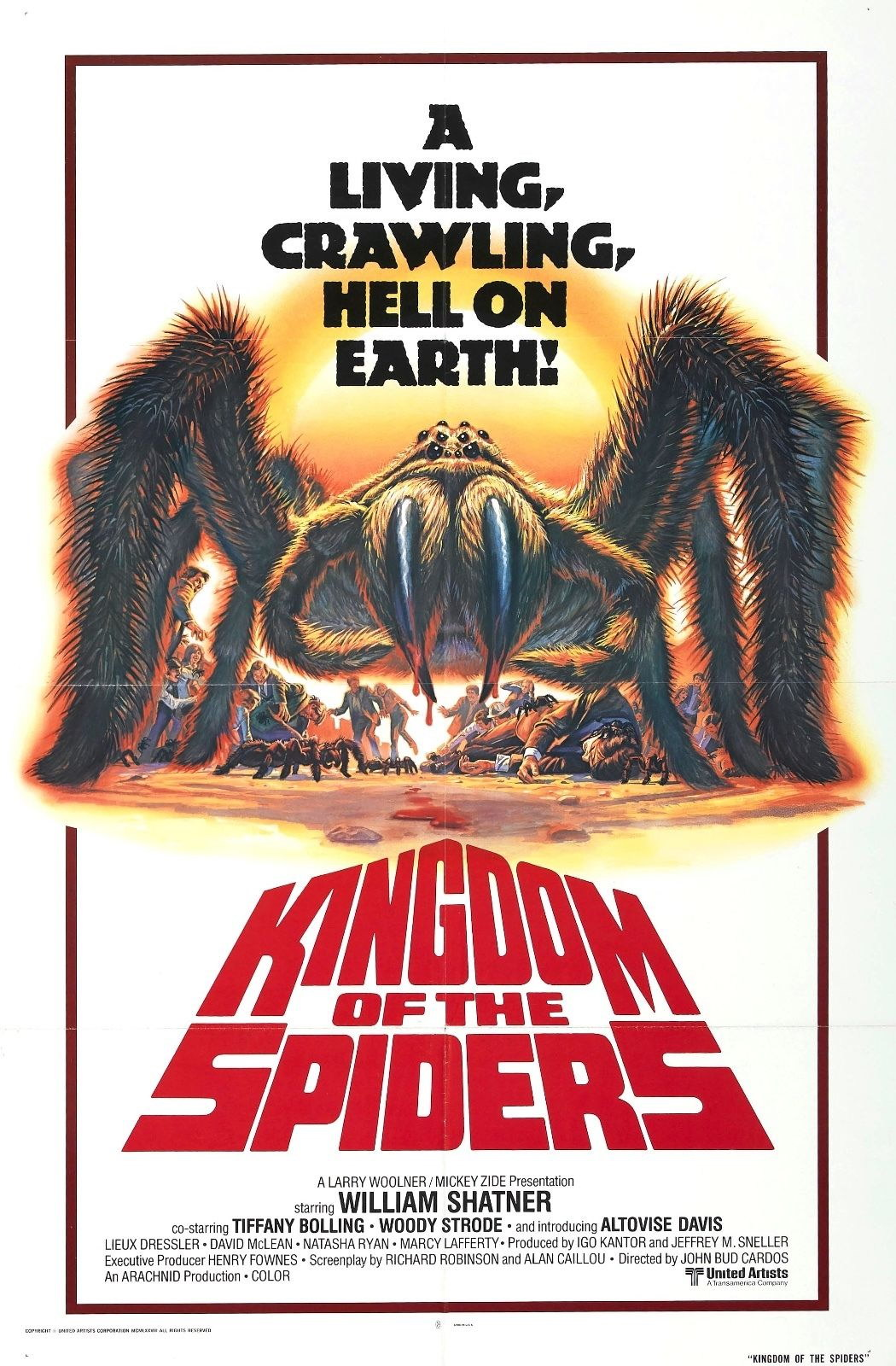 73495 Kingdom of the Spiders Movie 1977 Sci-Fi Wall Print Poster Affiche