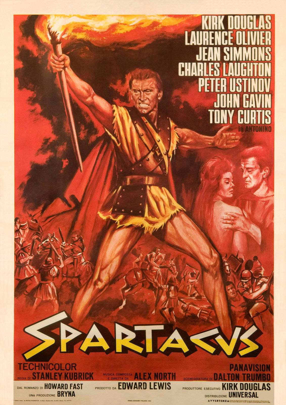 73668 SPARTACUS Movie 1960 Wall Print Poster Affiche