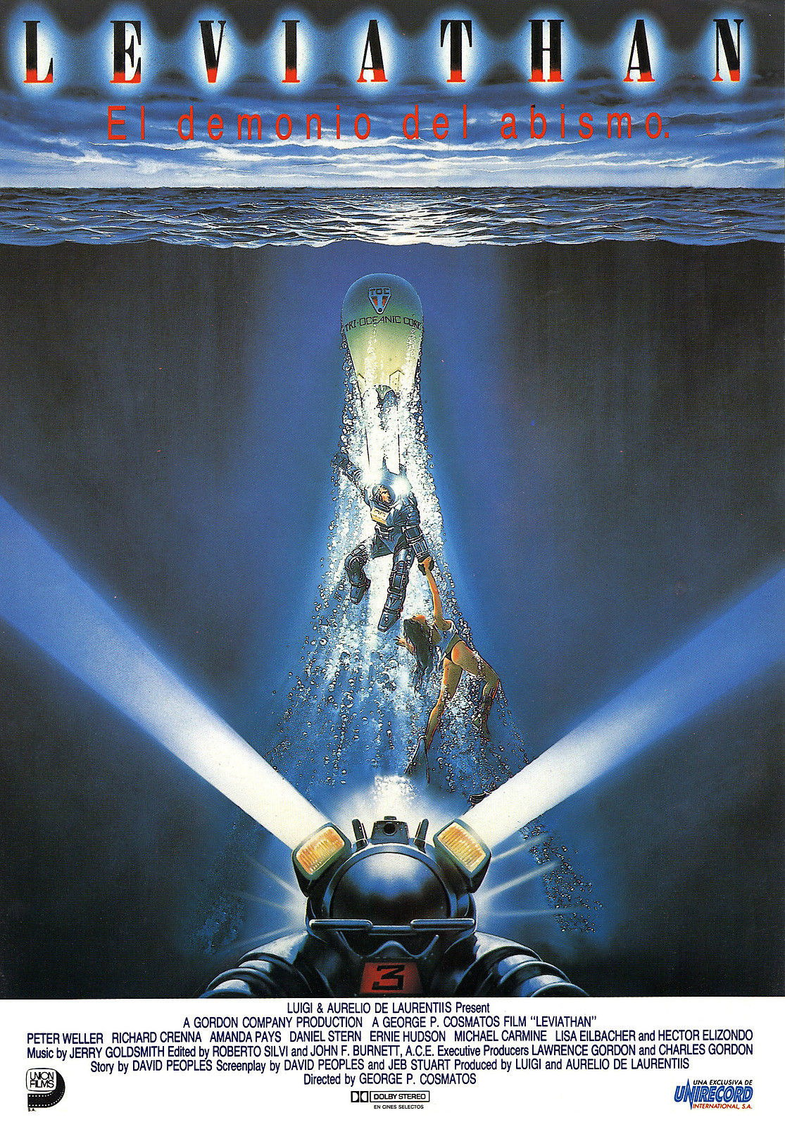 73763-LEVIATHAN-Movie-RARE-Horror-Sci-Fi-Wall-Print-Poster-Affiche