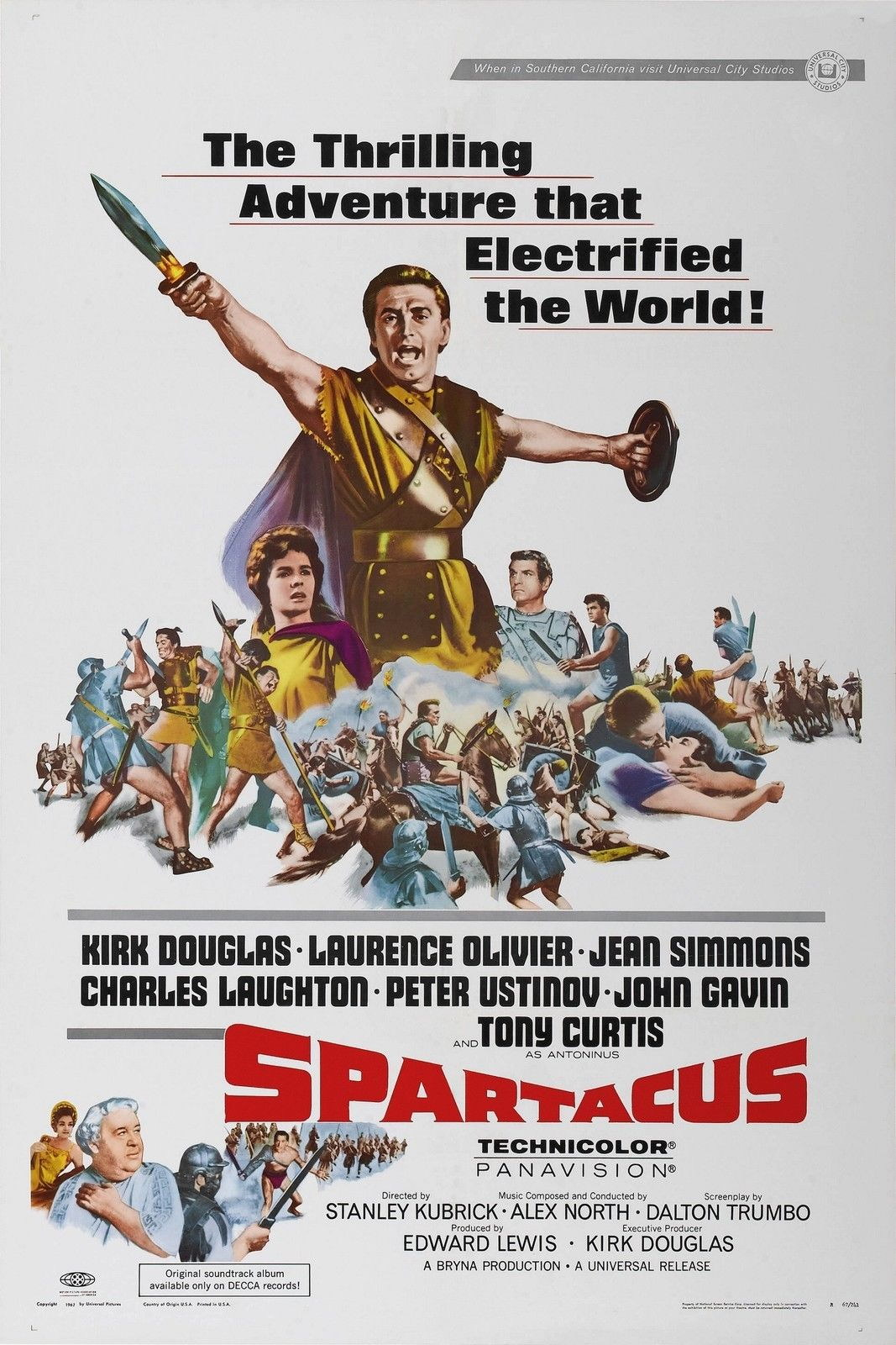 73819-SPARTACUS-1960-Stanley-Kubrick-Lawrence-Olivier-Wall-Print-Poster-Affiche
