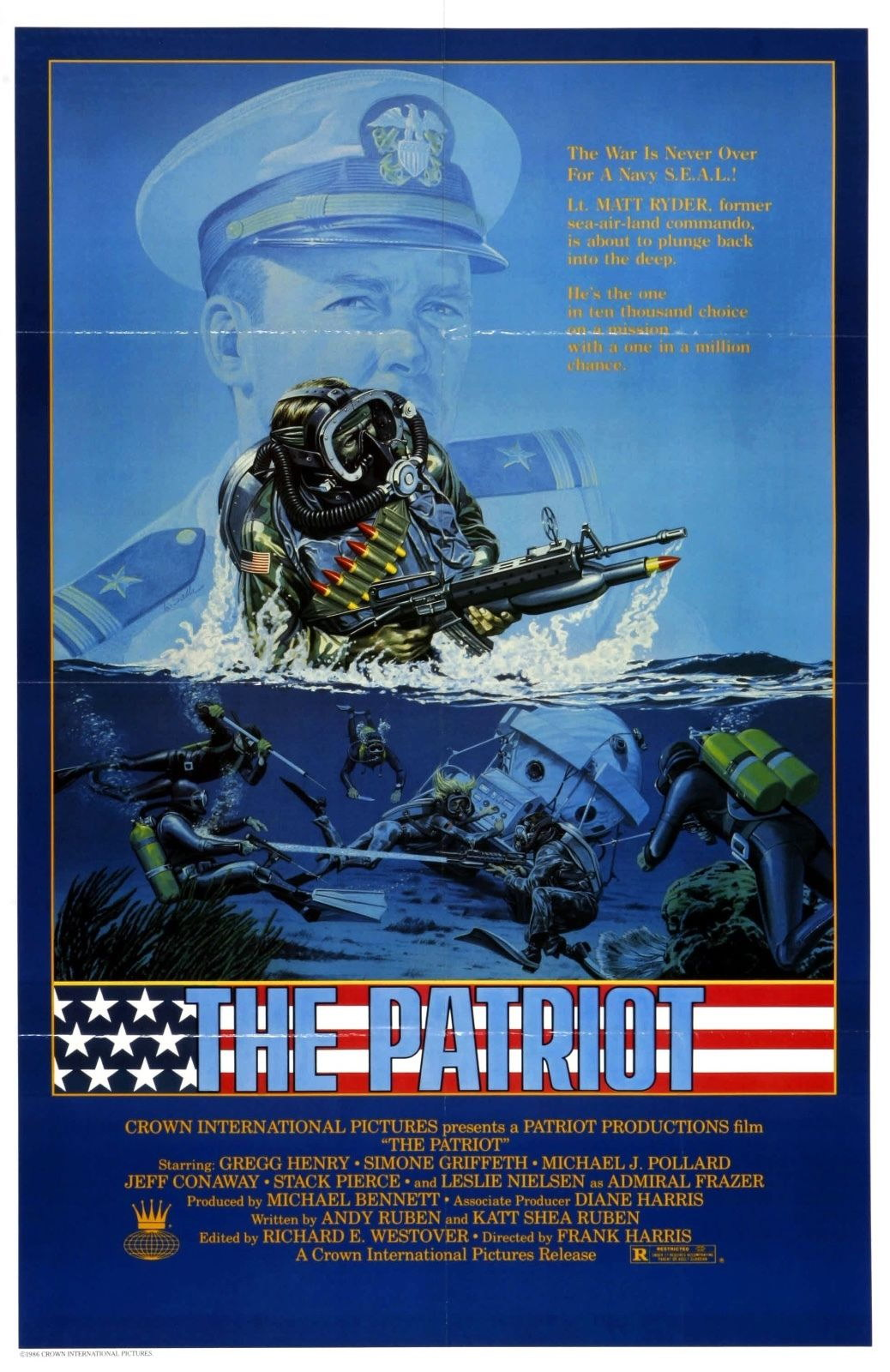 73849 The Patriot Movie 1986 Drama Action Wall Print Poster Affiche