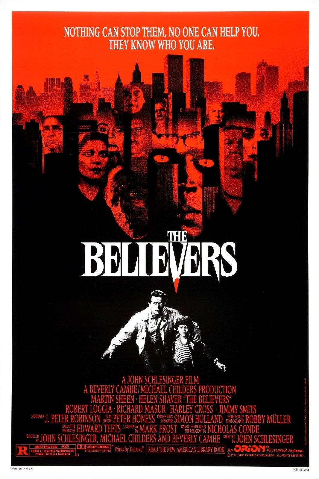 73868 The Believers Movie 1987 Slasher Thriller Wall Print Poster Affiche