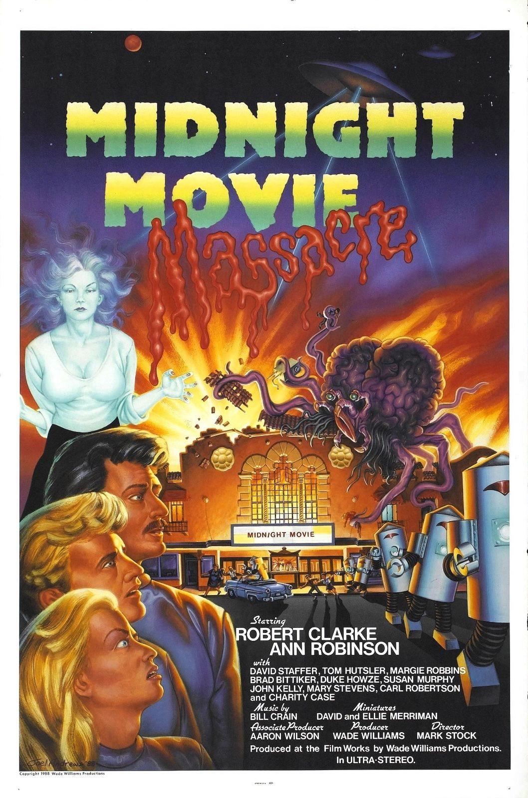 73897 Midnight Movie Massacre Movie 1988 Comedy Wall Print Poster Affiche