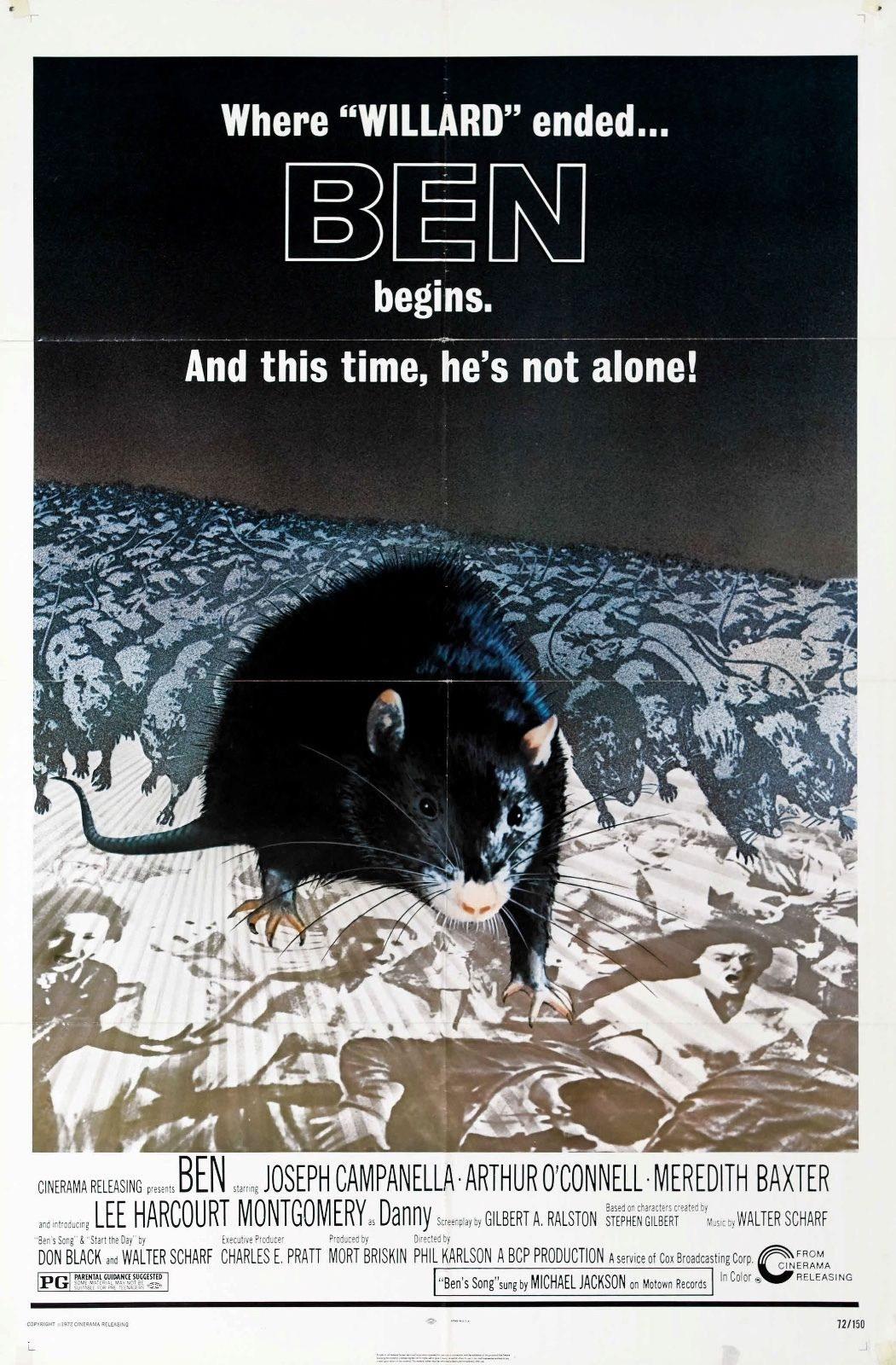 73922 Ben Movie 1972 Thriller Horror Wall Print Poster Affiche