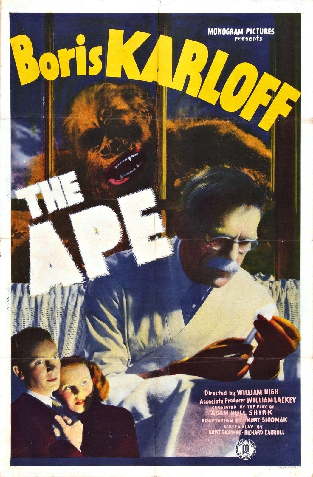 74054 THE APE 1940 Boris Karloff Universal Monster Wall Print Poster Affiche