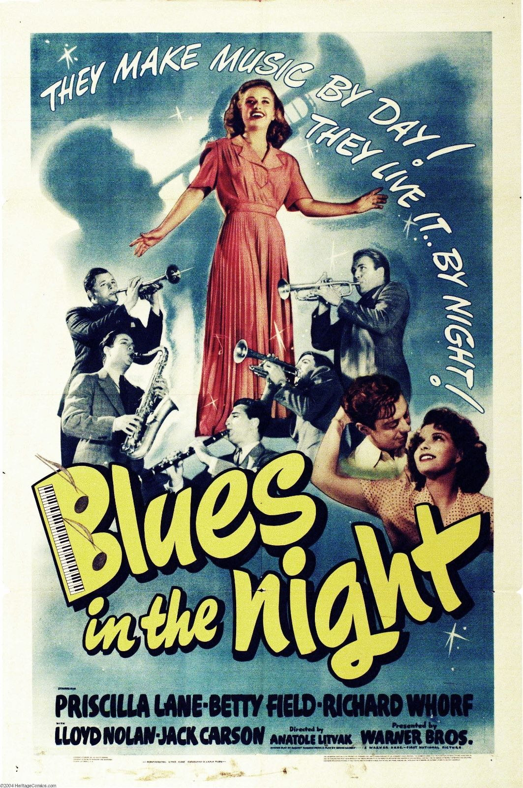 74061-Blues-in-the-Night-Black-and-white-Melodrama-Wall-Print-Poster-Affiche