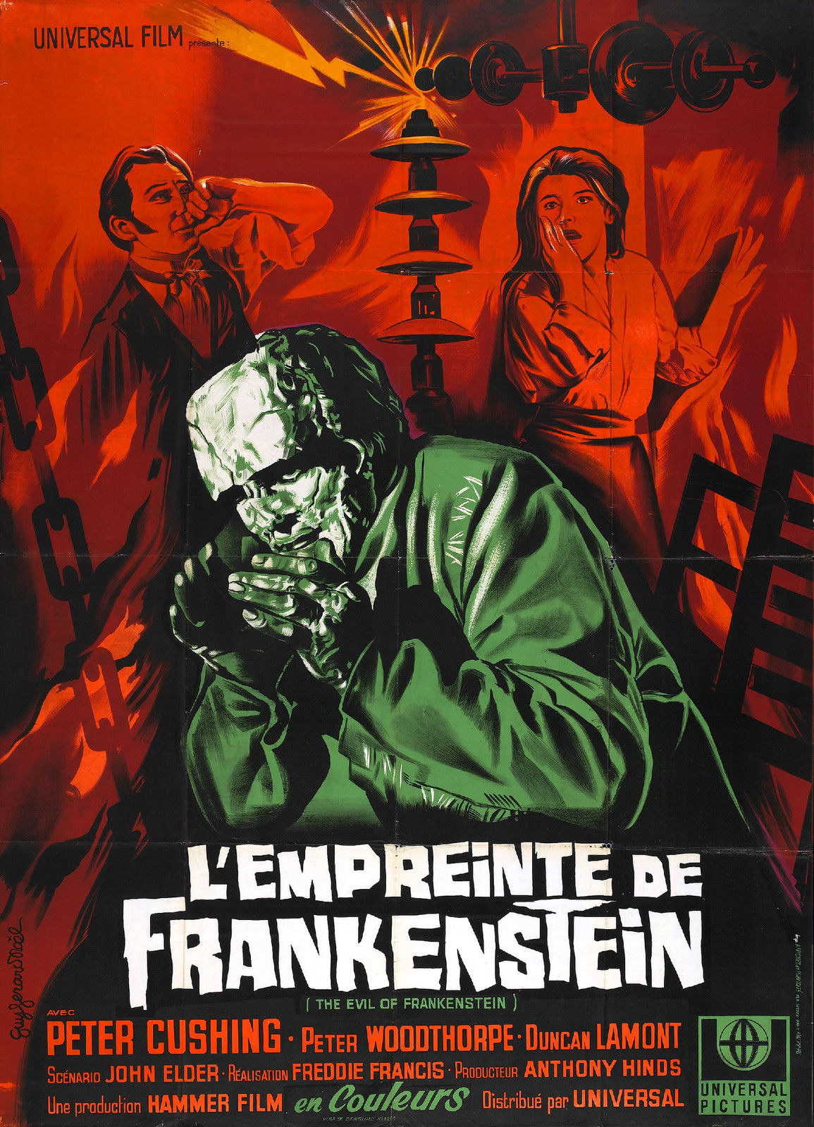 74225-THE-EVIL-OF-FRANKENSTIEN-Movie-Hammer-Wall-Print-Poster-Affiche