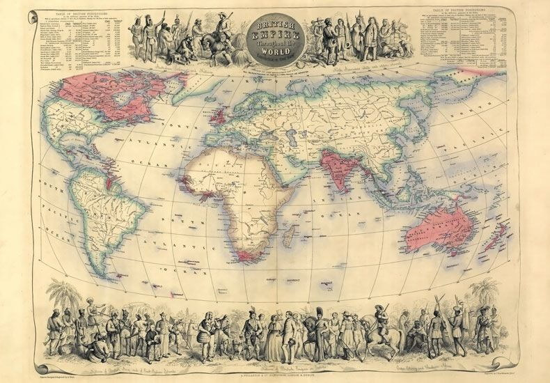 84025 vintage 1850 historical british empire world map wall print 84025 vintage 1850 historical british empire world map gumiabroncs Gallery
