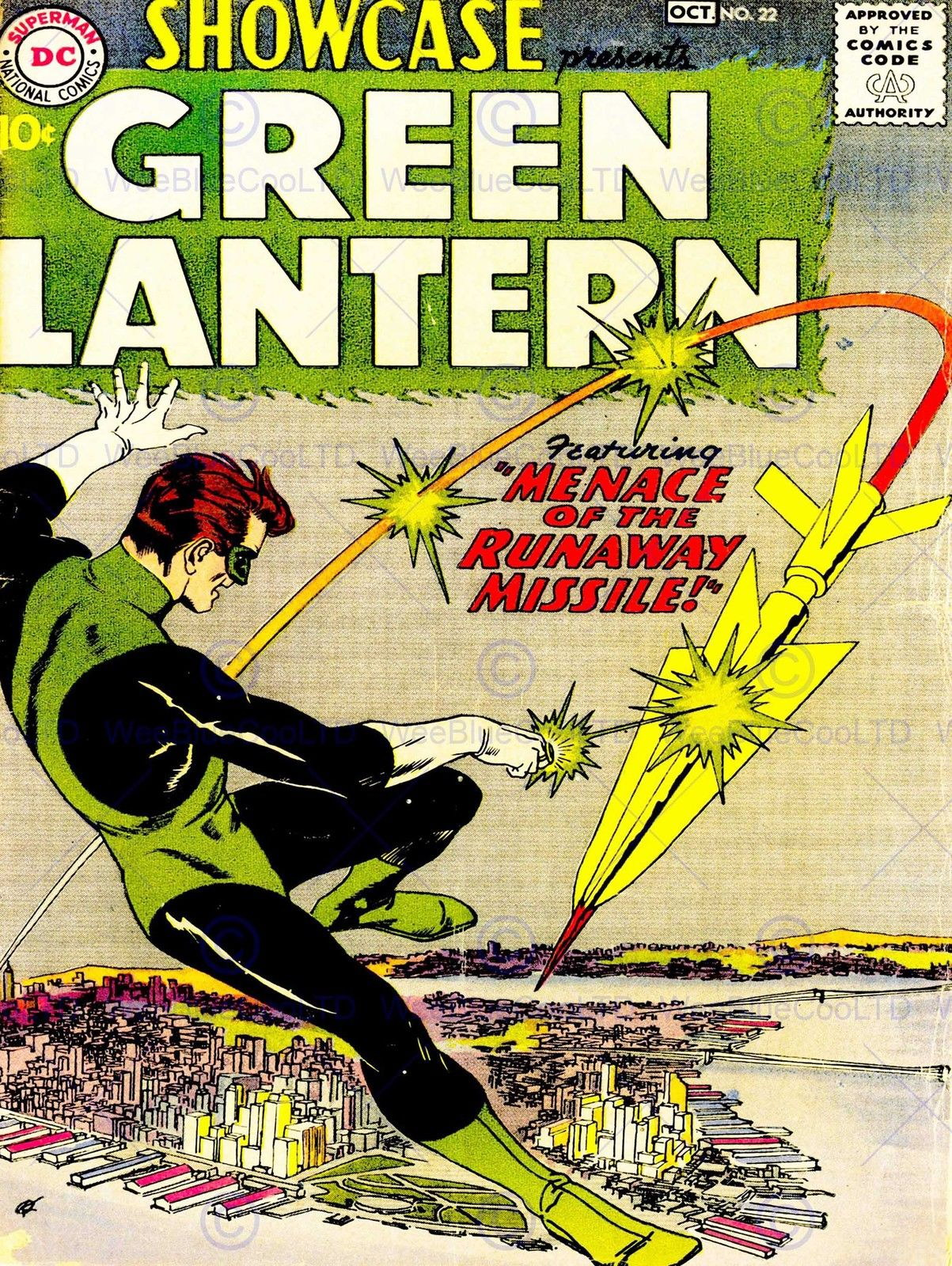 85494 VINTAGE COMIC COVER GREEN LANTERN HERO NEW Decor WALL PRINT ...