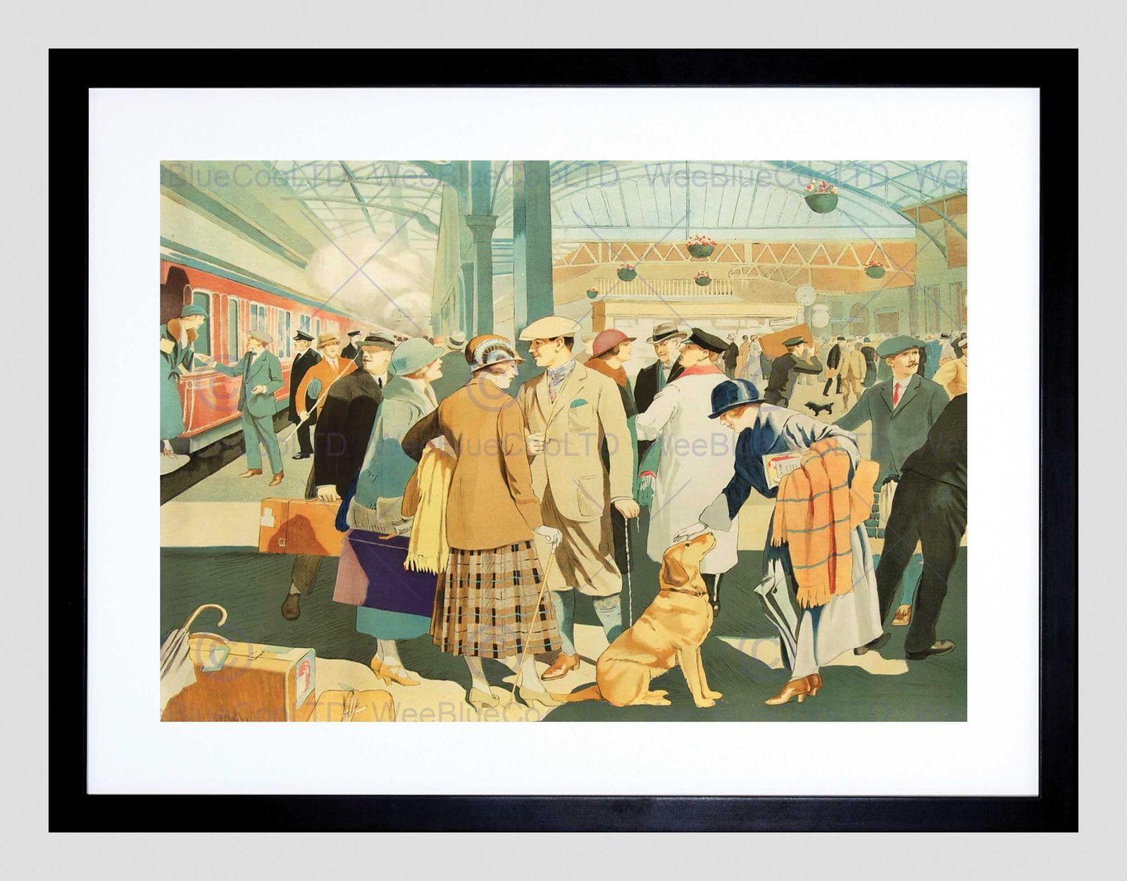 85714 PERTH RAIL STATION TRAIN SCOTLAND BRITAIN Decor WALL PRINT ...