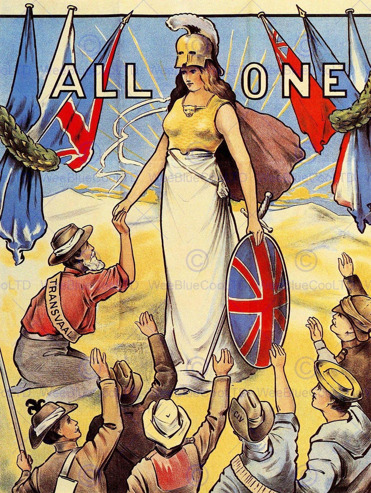 87095 BRITISH EMPIRE COMMONWEALTH BRITANNIA UK Decor WALL PRINT ...
