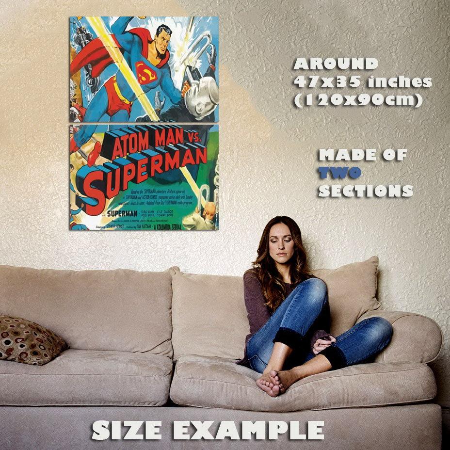 139872-SUPERMAN-V-ATOM-MAN-Wall-Print-Poster-UK