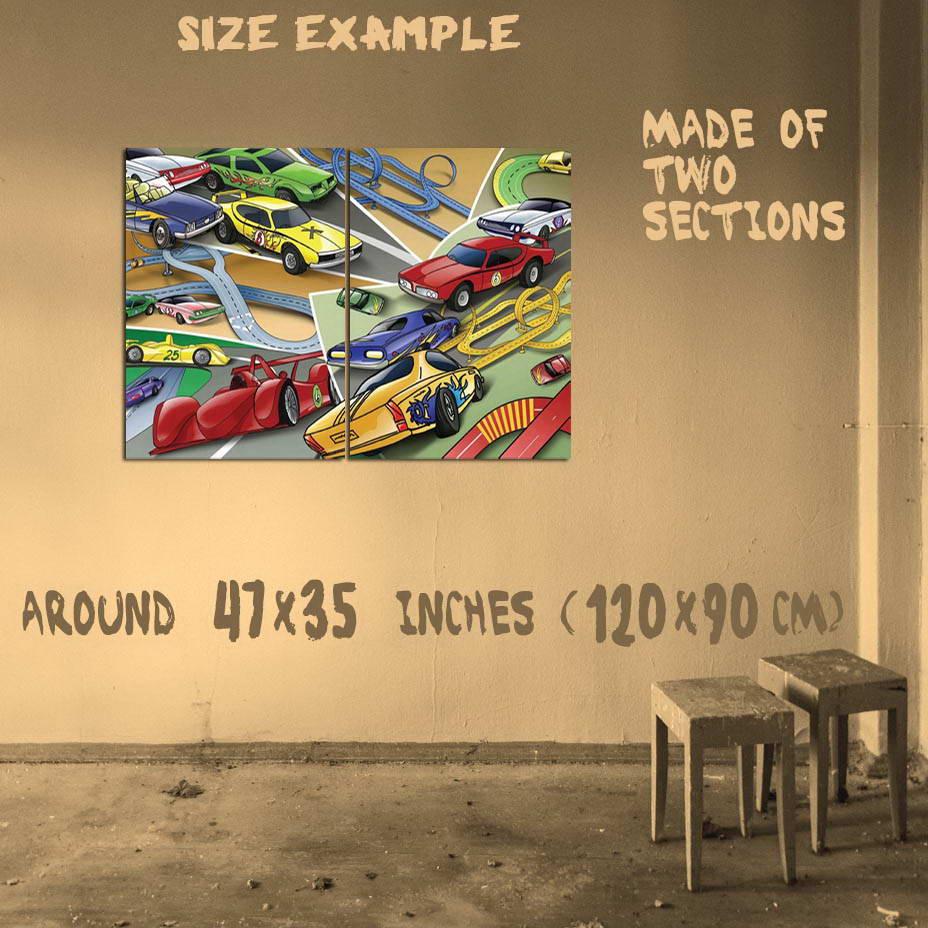 195450 KIDS CHILDREN CARS ART Wall Print Poster UK | eBay